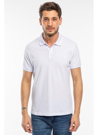 Slazenger Slazenger SALVATOR Erkek T-Shirt Petrol Beyaz